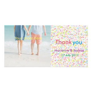 Thank you, wedding, card, appreciation, marriage picture card