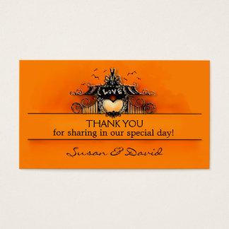 Thank You Wedding Cards - Halloween Love