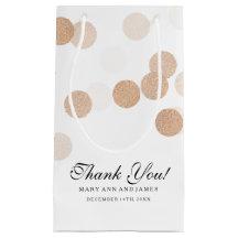 Thank You Wedding Copper Foil Glitter Lights