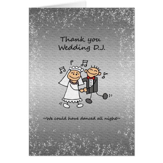Thank you Wedding Dj Music Card
