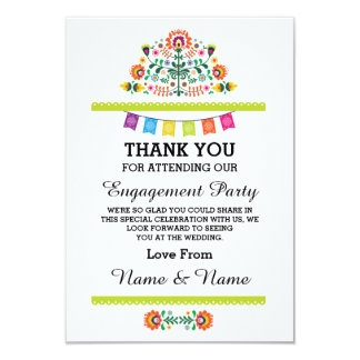 Thank You Wedding Fiesta Lime Mexican Card 9 Cm X 13 Cm Invitation Card