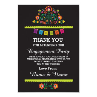 Thank You Wedding Fiesta Mexican Card