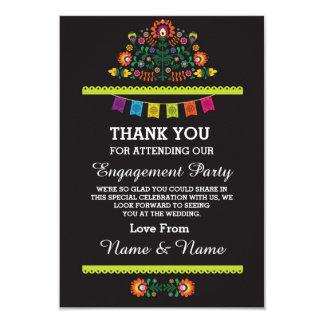 Thank You Wedding Fiesta Mexican Card 9 Cm X 13 Cm Invitation Card