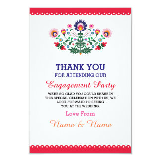 Thank You Wedding Fiesta Red Mexican Card