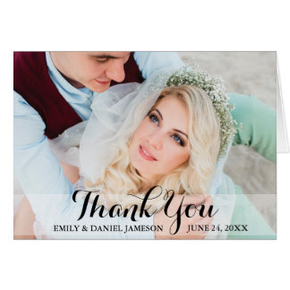 Thank You Wedding Photo Folding Card Script