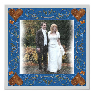 Thank You Wedding Photo Frame 5.25x5.25 Square Paper Invitation Card
