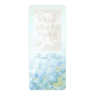 "Thank you wedding photo hydrangea card 4"" x 9.25"" invitation card"