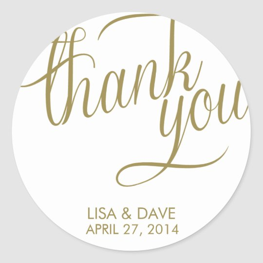 Thank You Wedding Stickers