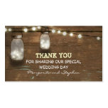 thank you wedding tag with string lights mason jar business card template