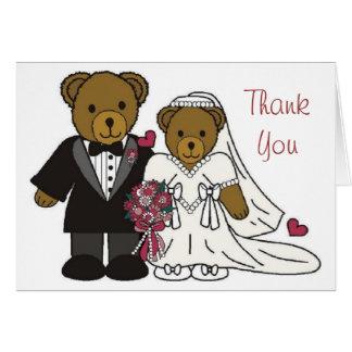 Thank You Wedding Teddy Bear Card
