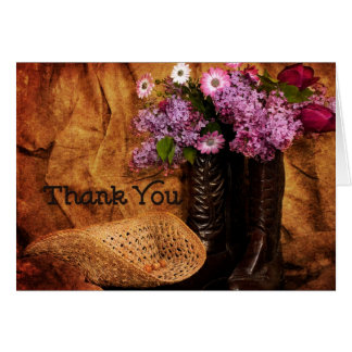 Thank You - Western - Note Cards