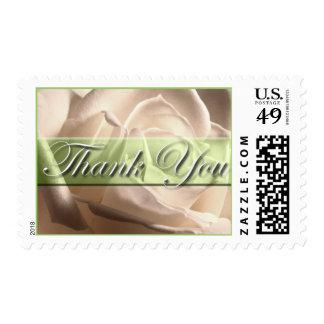 Thank You White Rose Wedding Postage Stamp