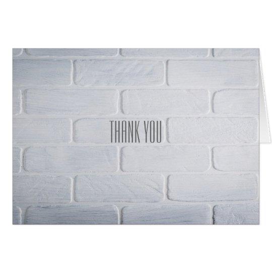 Thank You - Whitewash Card