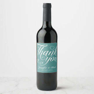 Thank You Wine Label