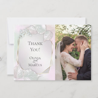 THANK YOU | Wispy Pink Shimmer PHOTO Frame