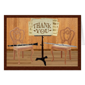 Thank You with Flute and Clarinet Card