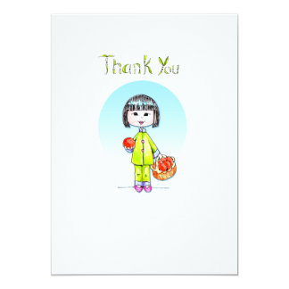 Thank You with Good Luck 13 Cm X 18 Cm Invitation Card