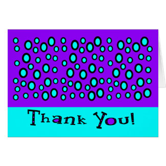 Thank You With Random Outlined Circles Note Card