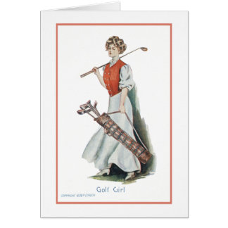 Thank You: Woman Golfer Card