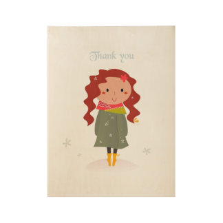 Thank you : wooden board wood poster