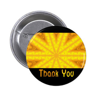 Thank You Yellow 6 Cm Round Badge