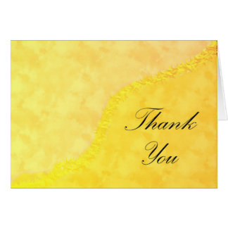 Thank You Yellow Greeting Card