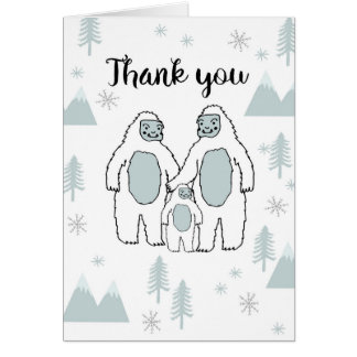 Thank You Yeti Baby Card by Andrea Lauren