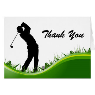 Thank Your Man Golf Birthday Note Card