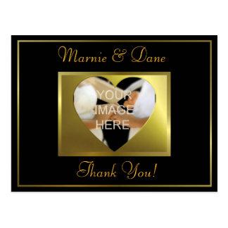 Thank Your Postcard| Golden Black Collection Postcard