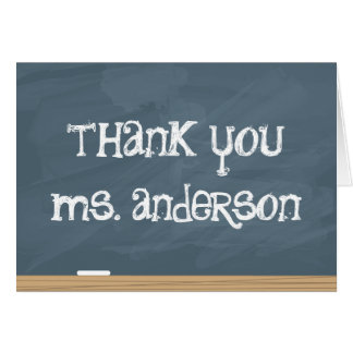 Thank your Teacher or Tutor! (add teachers name) Card