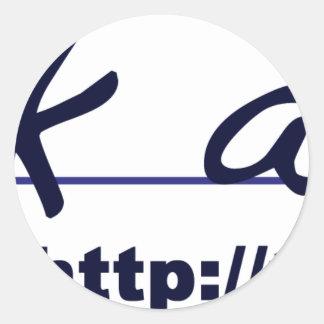 thankacop logo round sticker