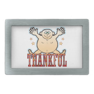 Thankful Fat Man Rectangular Belt Buckles