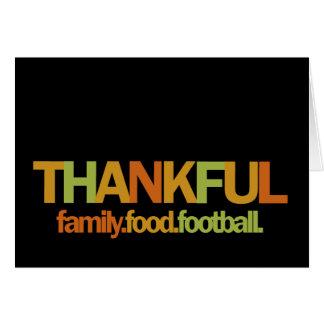 Thankful - football.food.family notecards card