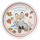 Thankful for Friends Thanksgiving Dinner Plate