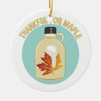 Thankful For Maple Christmas Ornament