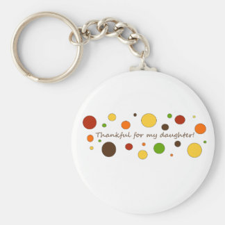 Thankful for my daughter basic round button key ring