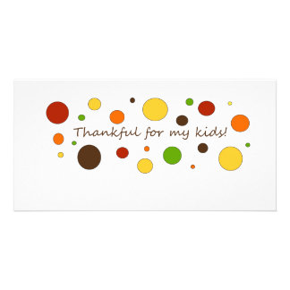 Thankful for my kids! photo greeting card