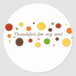 Thankful for my son sticker