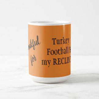 Thankful for Turkey, Football, & my RECLINER mug