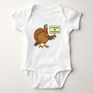 Thankful For Vegetarians Baby Bodysuit