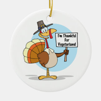 Thankful for Vegetarians Ornament