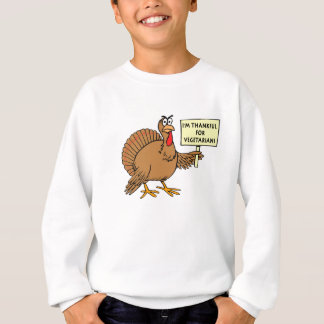 Thankful For Vegetarians Sweatshirt