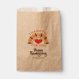 THANKFUL FOR YOU Personalized Thanksgiving Favour Bags