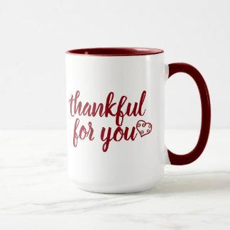 Thankful for you Thanksgiving Holiday mug