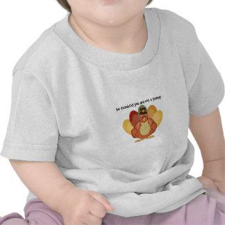 Thankful Not A Turkey T-shirts