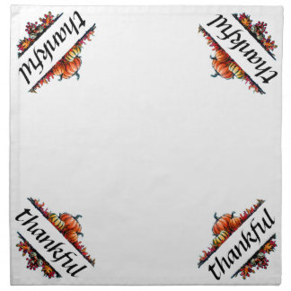 Thankful Thanksgiving Dinner Cloth Napkins