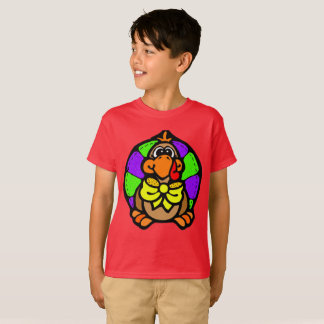 Thankgiving Turkey Color T-Shirt