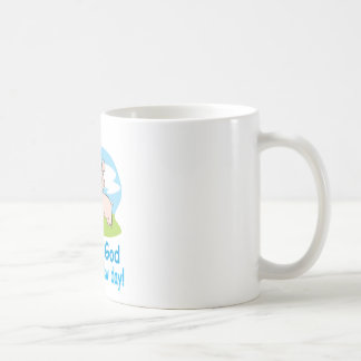 Thanking God for this New Day With Happy Piglet Classic White Coffee Mug