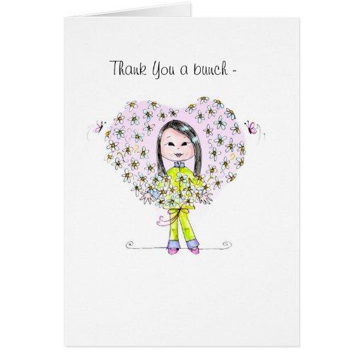 Thanks a Bunch [long hair] note card