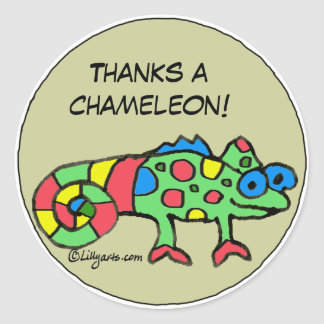 Thanks a Chameleon Personalized Stickers